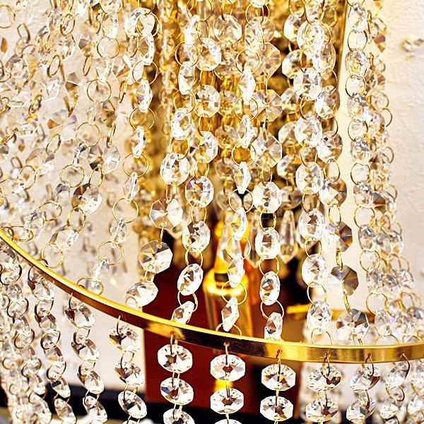 【1台在庫有!】クリスタルブラケット 2灯 ゴールド(W230×H620×D200mm)