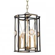 【HUDSON VALLEY】デザイン照明キャンドルスタイルペンダントライト「CRESSON」4灯・ゴールド(W342.9×H514.3mm)