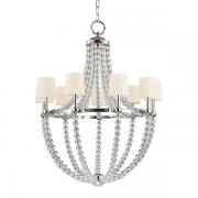 【HUDSON VALLEY】デザイン照明 クリスタルビーズシャンデリア「DANVILLE」9灯(W920.7×H1162.0mm)