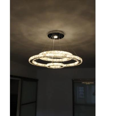 フープ型3連デザイン照明 (Φ600XΦ400XΦ200mm)