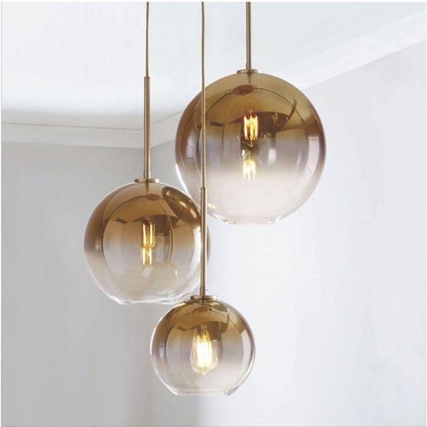 ガラスボールデザイン照明 3灯(約W550:Φ200×Φ250×Φ300mm)