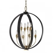 【HUDSON VALLEY】デザイン照明フラワーシャンデリア「DRESDEN」8灯・ブロンズ(W558.8×H660.4mm)