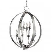【HUDSON VALLEY】デザイン照明フラワーシャンデリア「DRESDEN」8灯・クローム(W558.8×H660.4mm)