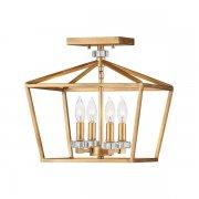 【HINKLEY】シャンデリアシーリングライト「Stinson」4灯(L330×W330×H343mm)