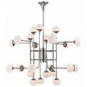 【HUDSON VALLEY】デザイン照明シェードシャンデリア「FLEMING」24灯・クローム(W1162.0×H1346.2mm)