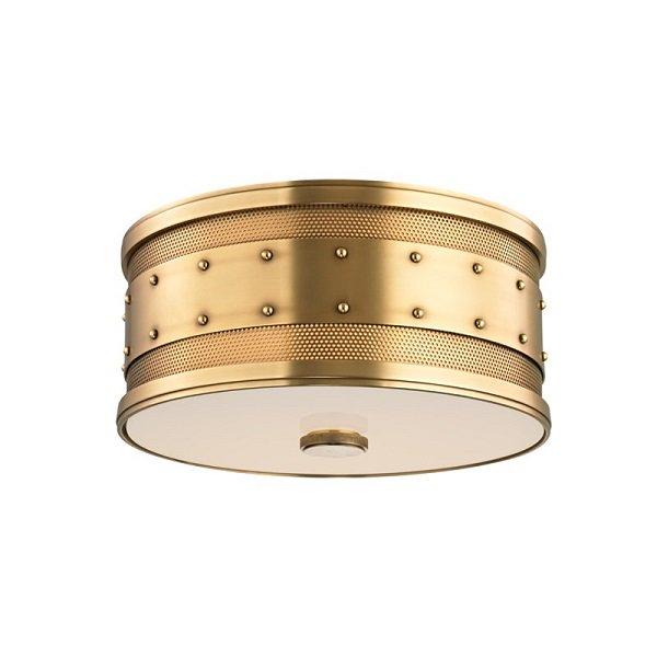 【HUDSON VALLEY】モダンシーリングライト「GAINES」2灯・ゴールド(W304.8×H139.7mm)
