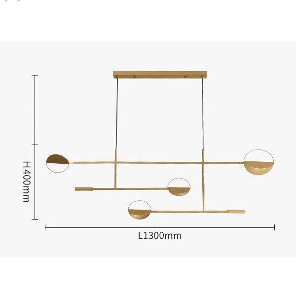 【ゴールド1台在庫有!】デザイン照明 ゴールド/ブラック 4灯(W1300×H400mm)