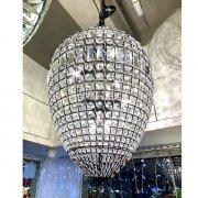 【1台在庫有!】デザインシャンデリア8灯 クローム(約Φ500×H700mm)