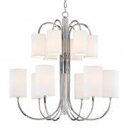 【HUDSON VALLEY】デザイン照明 シェードシャンデリア「JUNIUS」12灯・クローム(W882.6×H914.4mm)