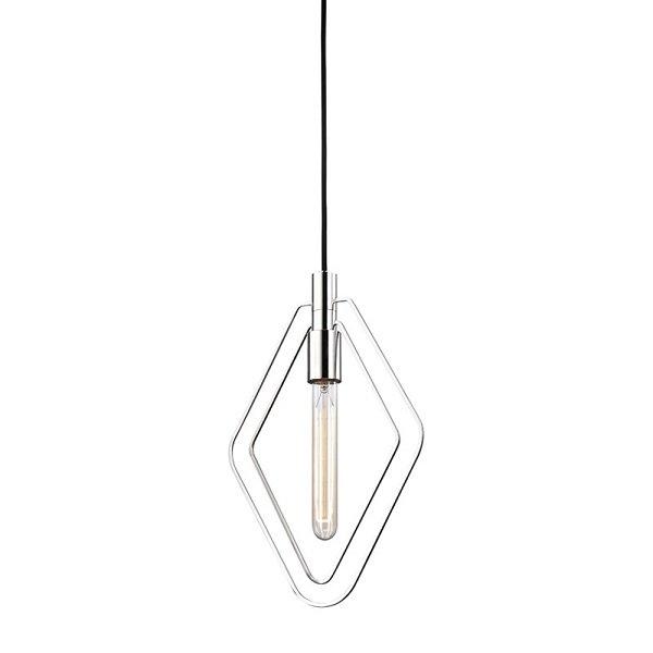 【HUDSON VALLEY】ワイヤーデザイン ペンダントライト「MASONVILLE」1灯・クローム(W247.6×H381.0mm)