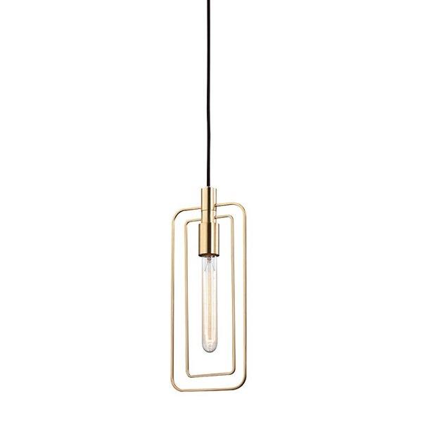 【HUDSON VALLEY】ワイヤーデザイン ペンダントライト「MASONVILLE」1灯・ゴールド(W158.7×H381.0mm)