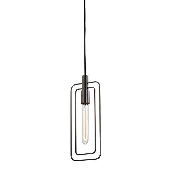 【HUDSON VALLEY】ワイヤーデザイン ペンダントライト「MASONVILLE」1灯・ブラック系(W158.7×H381.0mm)