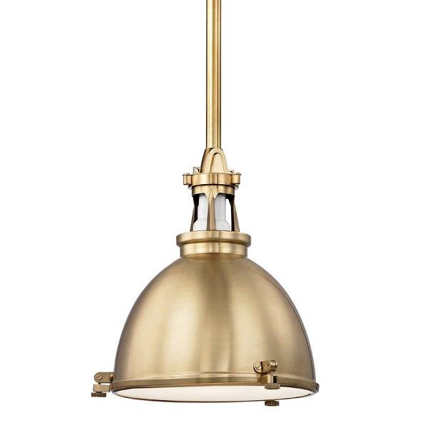 【HUDSON VALLEY】インダストリアル照明 メタルシェードペンダントライト「MASSENA」1灯(W342.9×H393.7mm)