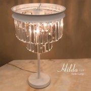 クリスタルテーブルランプ3灯「HILDA」(φ305×H505mm)