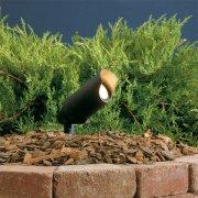 【KICHLER】米国・キチラー社12Vスポットライト(ガーデン用・35W) 1灯 ブラック「Independence」(W64×H152mm)