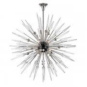 【HUDSON VALLEY】デザイン照明 ガラスシャンデリア「SPARTA」18灯・クローム(W1219.2×H1219.2-2286.0mm)