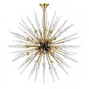 【HUDSON VALLEY】デザイン照明 ガラスシャンデリア「SPARTA」18灯・ゴールド(W1219.2×H1219.2-2286.0mm)