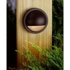 【KICHLER】米国・キチラー社12Vウッドデッキライト(ガーデン用) 1灯 ブロンズ色(W102mm)