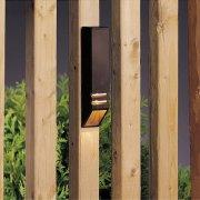 【KICHLER】米国・キチラー社12Vウッドデッキライト(ガーデン用) 1灯 ブロンズ色(W38×H152mm)