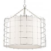 【HUDSON VALLEY】デザイン照明 リネンシェードペンダントライト「SOVEREIGN」4灯(W787.4×H812.8mm)