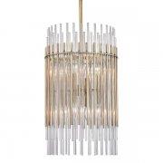 【HUDSON VALLEY】デザイン照明 ガラスロッドシャンデリア「WALLIS」8灯(W381.0×H660.4-2127.2mm)
