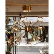ガラスボールシェードペンダントライト13灯・ゴールド(φ720×H530mm)LED