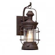 【TROY】アウトドア・インダストリアル照明 ランタンウォールライト「ATKINS」1灯(W171.4×D222.2×H393.7mm)