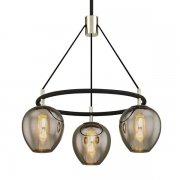 【TROY】モダン照明 ガラスシェードシャンデリア「ILIAD」3灯(W660.4×H654.0-1892.3mm)