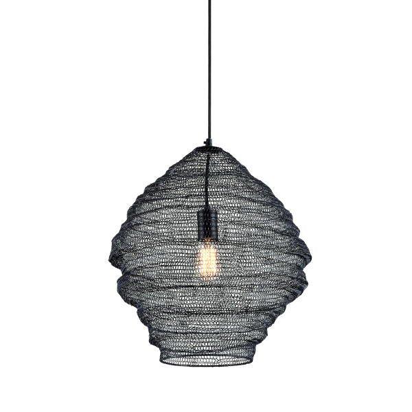 【TROY】デザイン照明 メッシュシェードペンダントライト「WABI SABI」1灯(W457.2×H609.6-3505.2mm)