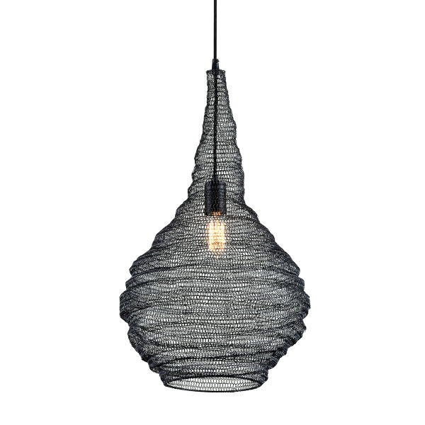 【TROY】デザイン照明 メッシュシェードペンダントライト「WABI SABI」1灯(W406.4×H711.2-3606.8mm)