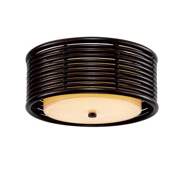 【TROY】ミッドセンチュリーモダン シェードシーリングライト「KEY WEST」2灯(W406.4×H171.4mm)