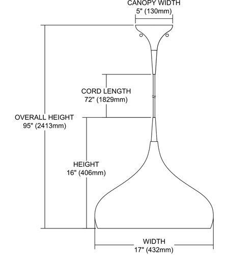 【ELK】ペンダントライト「Lindsey」1灯(W432×H406mm)