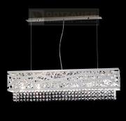 【Dotzauer】 スワロフスキー・ハンギングランプ デザイン照明6灯 (W850×D200×H230mm)