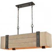 【ELK】ペンダントライト「Wooden Crate」5灯(L305×W1016×H279-1473mm)
