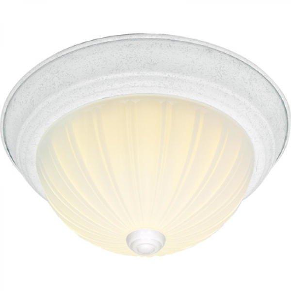【NUVO】メロンガラス シェードシーリングライト「BRENTWOOD」3灯(W390×H150mm)