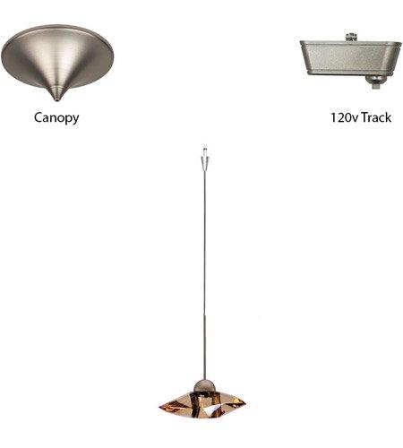 【WAC Lighting】ペンダントシーリングライト「Eternity Jewelry」1灯(L178×W178×H44mm)