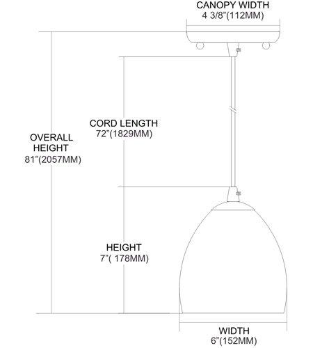 【ELK】ミニペンダントライト「Colorwave」1灯(W152×H178mm)