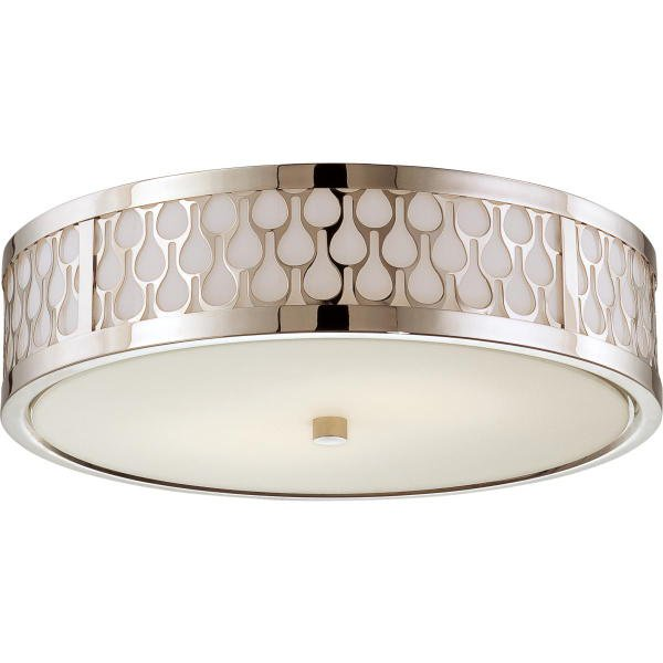 【NUVO】LED デザインシーリングライト「RAINDROP」1灯(W380×H110mm)