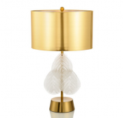 【訳あり!20%OFF】【1台在庫有!】【Diana】デザイン照明テーブルライト ゴールド 1灯(W400×H680mm)