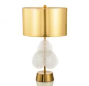 【Diana】デザイン照明テーブルライト ゴールド/ホワイト 1灯(W400×H680mm)