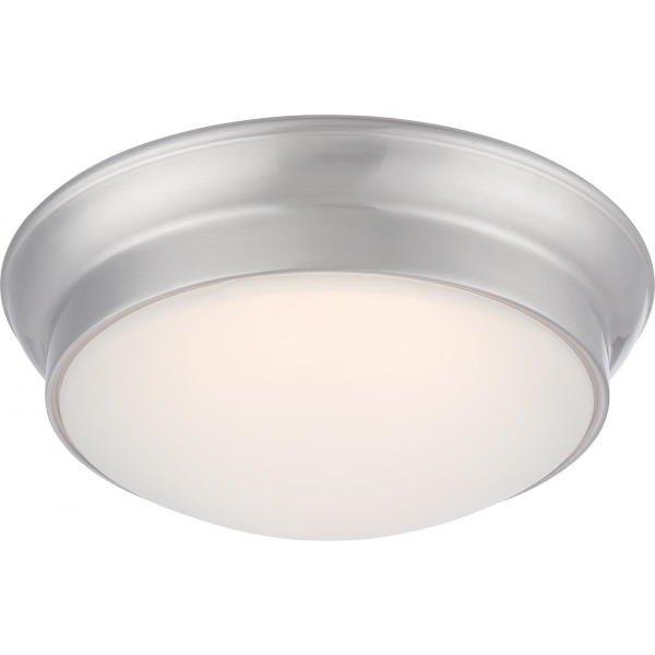 【NUVO】LED シェードシーリングライト「CONRAD」1灯(W300×H100mm)