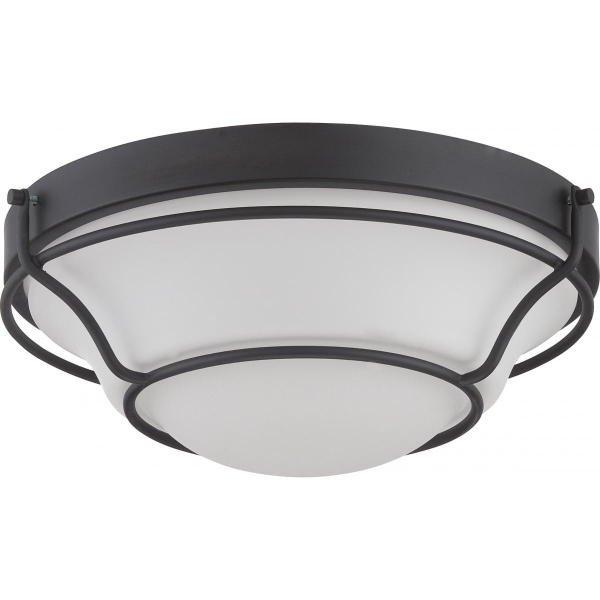 【NUVO】LED シェードシーリングライト「BAKER」1灯(W330×H130mm)