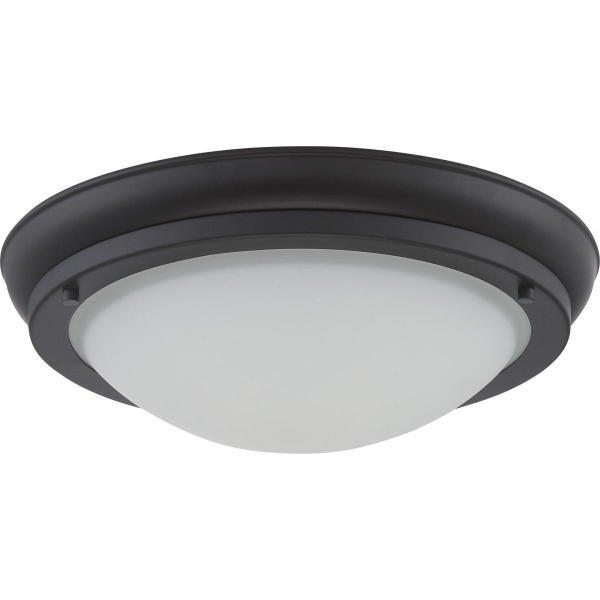 【NUVO】LED シェードシーリングライト「POKE」1灯(W300×H100mm)