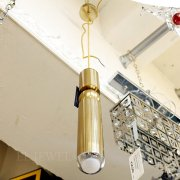 LEDペンダントライト 1灯 ゴールド (Φ75×H350mm)