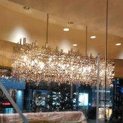 【特注製作】【LA LUCE】クリスタルデザインシャンデリア 25/35灯(W1500/2100mm)
