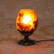 【galle】ガレ・コレクション- テーブルスタンドランプ 1灯 「レッドローズ」アンティークブロンズ/ダークブロンズ(Φ105×H175mm)