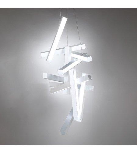 【Modern Forms】デザイン照明「Chaos」LED  つや消しアルミニウム(W580×D640×H1240mm)