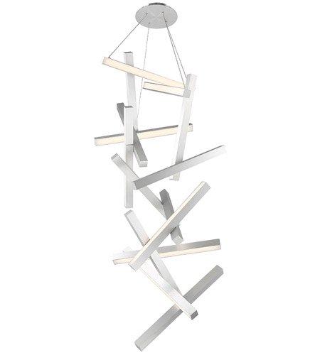 【Modern Forms】デザイン照明「Chaos」LED  つや消しアルミニウム(W710×D790×H1910mm)