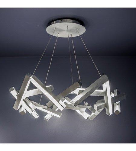 【Modern Forms】デザイン照明「Chaos」LED  つや消しアルミニウム(W860×D860×H250mm)