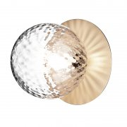 【Nuura】「Liila 1 wall/ceiling lamp, medium, gold - clear」デザイン照明ウォール/シーリングライト ゴールド-クリア (Φ165×H170mm)<img class='new_mark_img2' src='https://img.shop-pro.jp/img/new/icons1.gif' style='border:none;display:inline;margin:0px;padding:0px;width:auto;' />
